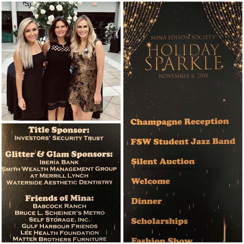 Waterside Aesthetic Dentistry sponsors Silent Auction for Mina Edison Society Holiday Sparkle